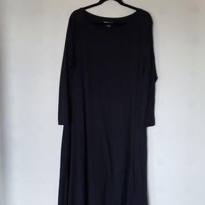 SOFT SURROUNDINGS black long sleeve maxi dress
